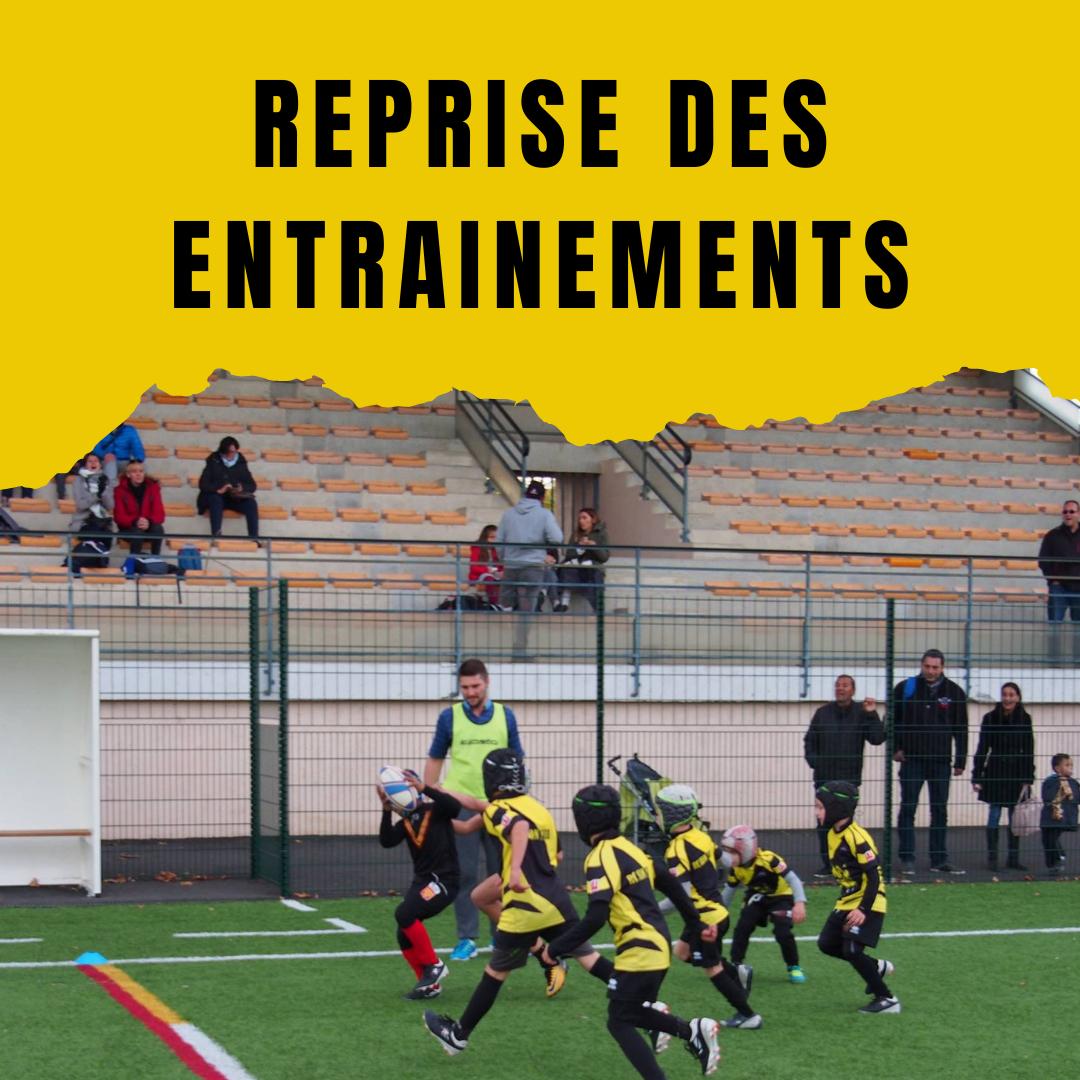 Read more about the article Reprise des entrainements toutes catégories